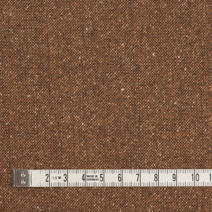 ウール&ポリエステル混×無地(オータムリーフ)×ツイードストレッチ_全2色_イタリア製 イメージ4