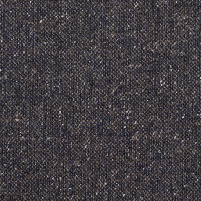 ウール&ポリエステル混×無地(アイアンネイビー)×ツイードストレッチ_全2色_イタリア製 イメージ1