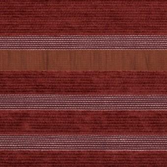 アクリル&ポリエステル混×ボーダー(ガーネット)×ジャガード(裏芯貼り)_イタリア製_パネル