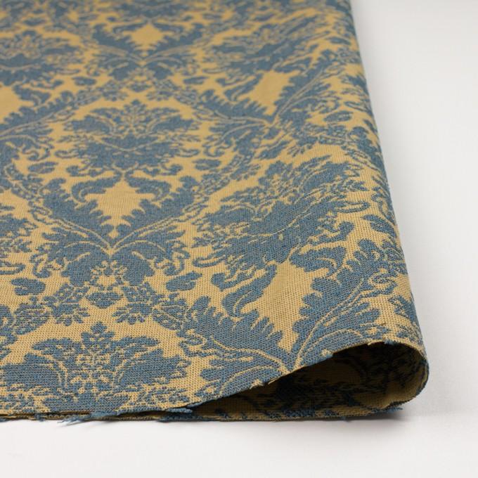 レーヨン&コットン混×幾何学模様(バナナ&ブルーグレー)×ジャガード_イングランド製 イメージ3