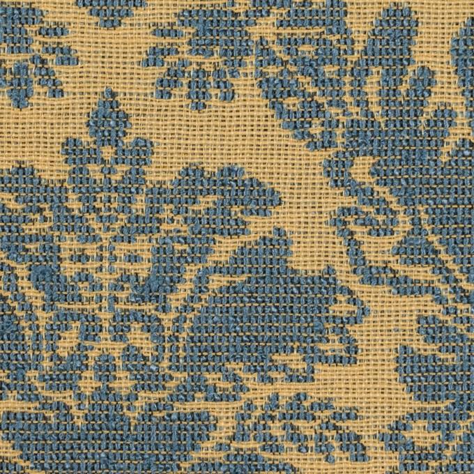 レーヨン&コットン混×幾何学模様(バナナ&ブルーグレー)×ジャガード_イングランド製 イメージ1