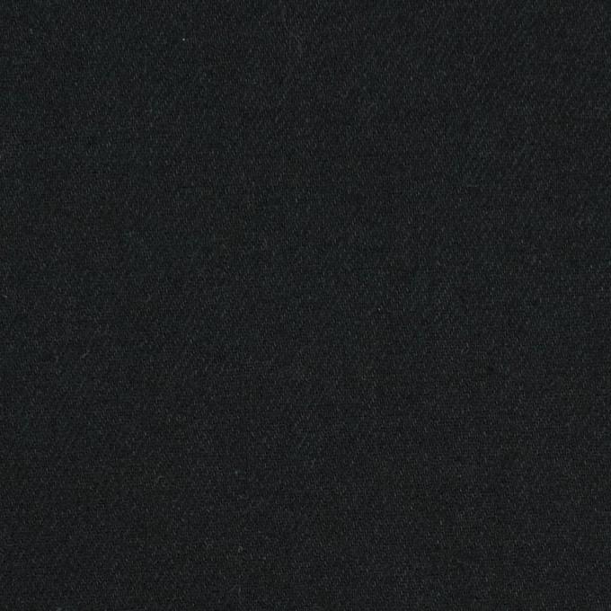 コットン&キュプラ混×無地(ブラック)×ビエラ イメージ1