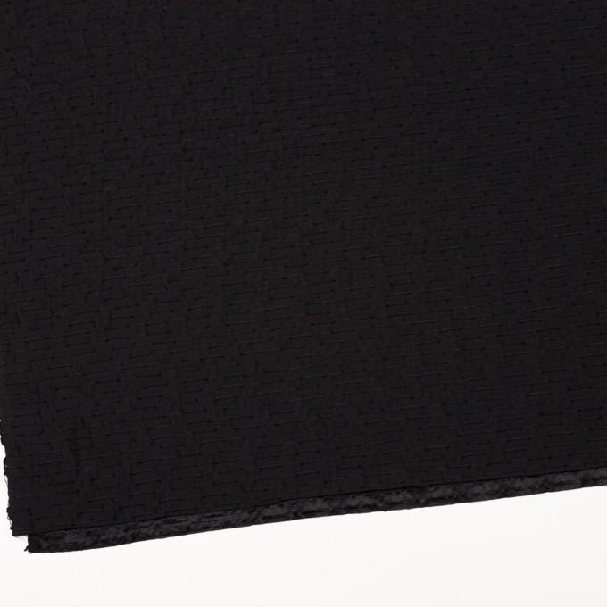 シルク&ナイロン×ボーダー(ブラック)×サテンジャガード イメージ2