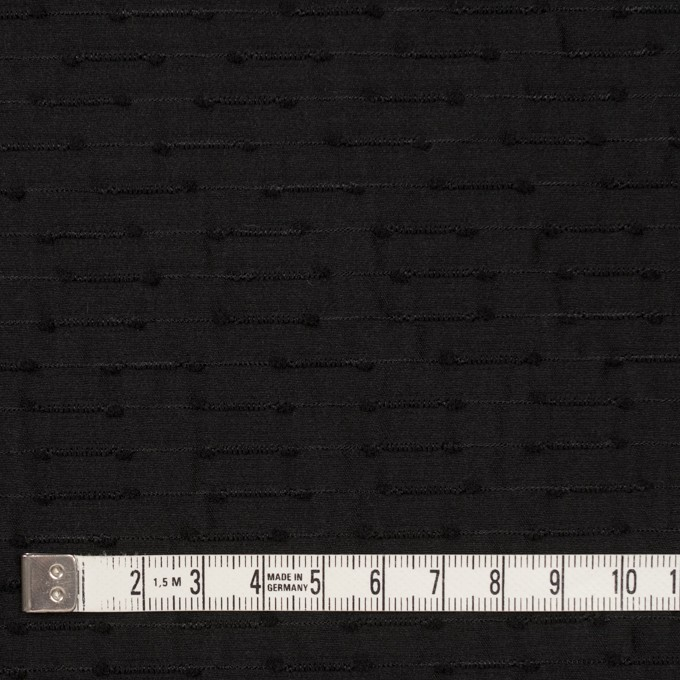 シルク&ナイロン×ボーダー(ブラック)×サテンジャガード イメージ4