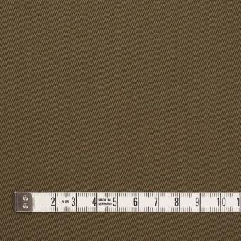 ウール×無地(カーキ)×サージ_全2色 サムネイル4