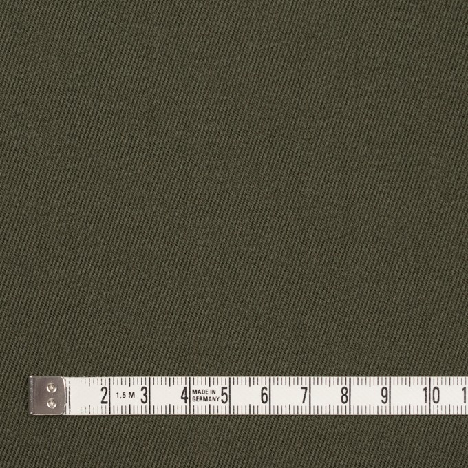 ウール×無地(カーキグリーン)×サージ_全2色 イメージ4