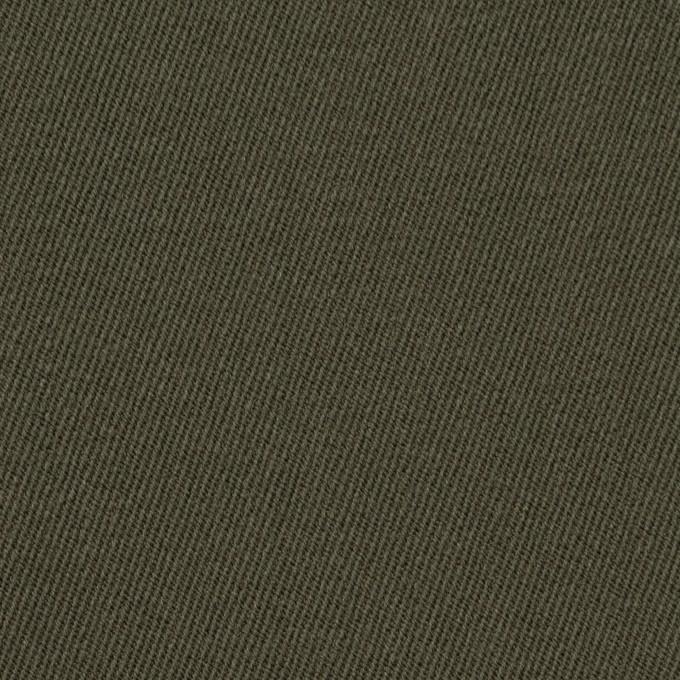 ウール×無地(カーキグリーン)×サージ_全2色 イメージ1