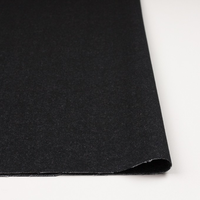 ウール&コットン×無地(ブラック)×厚ビエラ イメージ3