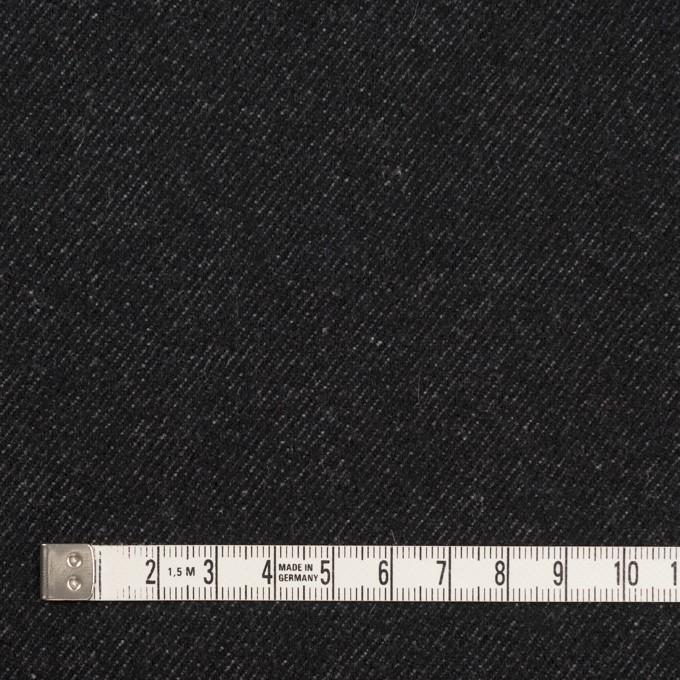 ウール&コットン×無地(ブラック)×厚ビエラ イメージ4