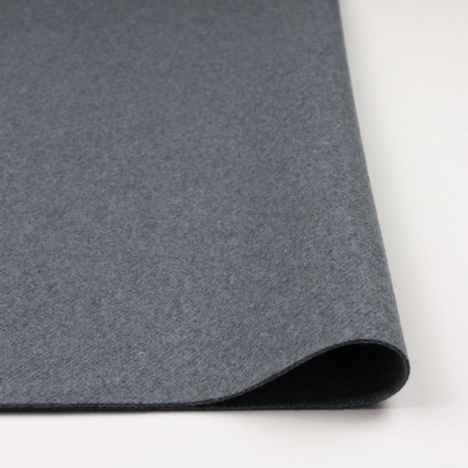 ウール&ナイロン×無地(ブルーグレー)×厚カルゼ イメージ3