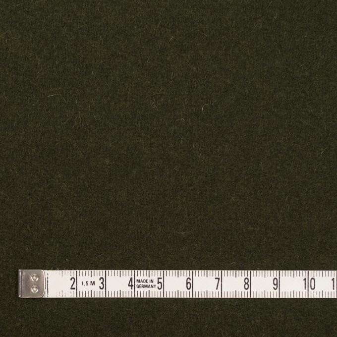 ウール&ナイロン×無地(オリーブドラブ)×メルトン イメージ4