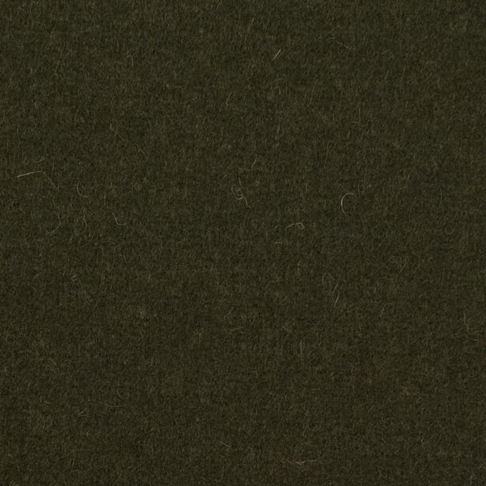 ウール&ナイロン×無地(オリーブドラブ)×メルトン イメージ1