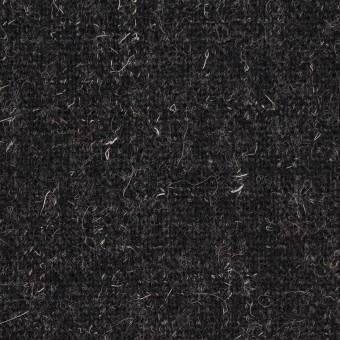 ウール×無地(チャコール)×二重織ツイード