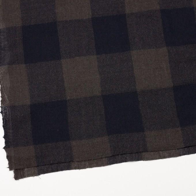 ウール×チェック(ブラウン&ネイビー)×ガーゼ_全3色 イメージ2