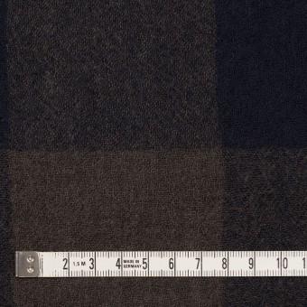 ウール×チェック(ブラウン&ネイビー)×ガーゼ_全3色 サムネイル4