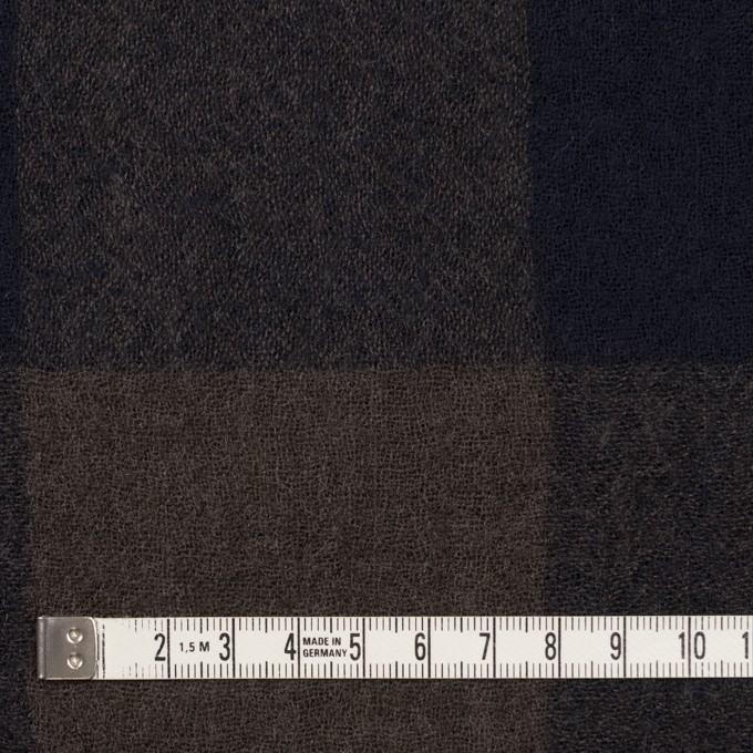 ウール×チェック(ブラウン&ネイビー)×ガーゼ_全3色 イメージ4