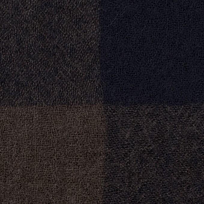 ウール×チェック(ブラウン&ネイビー)×ガーゼ_全3色 イメージ1