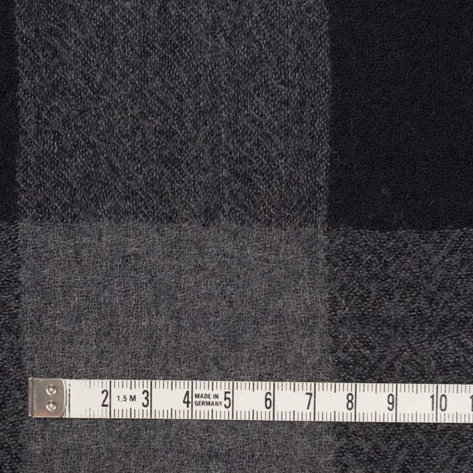 ウール×チェック(チャコールグレー&ブラック)×ガーゼ_全3色 イメージ4