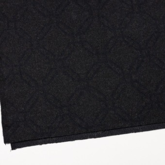 ウール&コットン×幾何学模様(チャコール)×二重織ジャガード サムネイル2