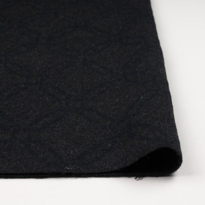 ウール&コットン×幾何学模様(チャコール)×二重織ジャガード イメージ3