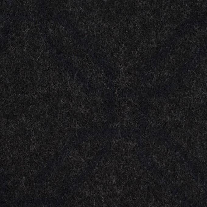 ウール&コットン×幾何学模様(チャコール)×二重織ジャガード イメージ1