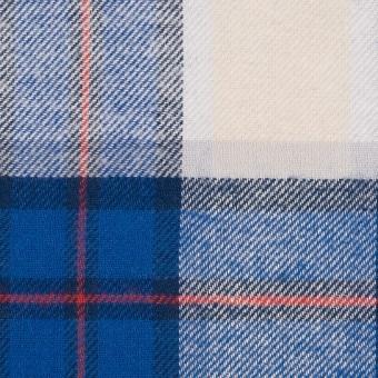 コットン×チェック(アイボリー&ブルー)×ビエラ サムネイル1
