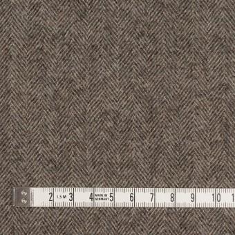 ウール×無地(モカブラウン)×ヘリンボーン サムネイル4