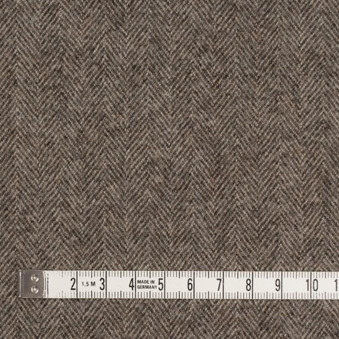 ウール×無地(モカブラウン)×ヘリンボーン イメージ4