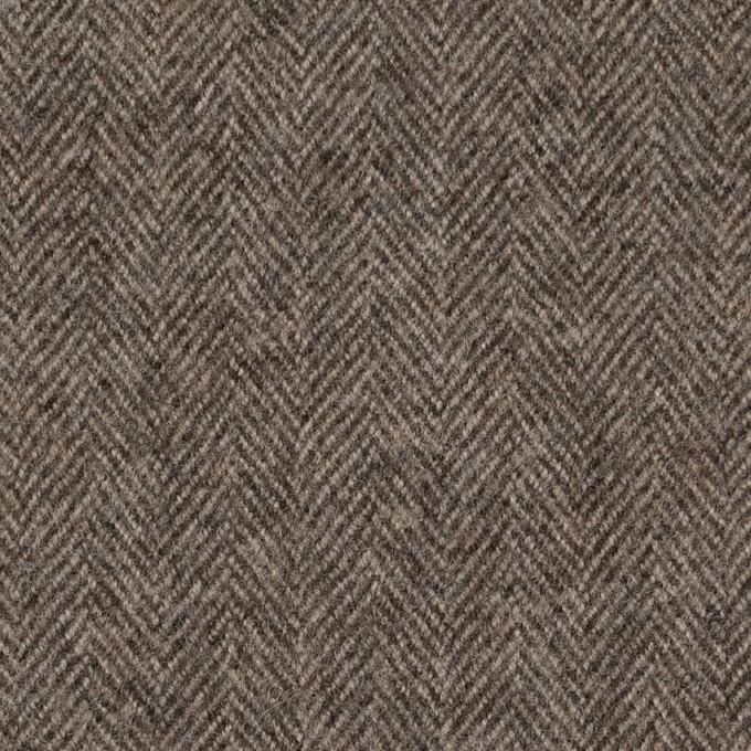 ウール×無地(モカブラウン)×ヘリンボーン イメージ1