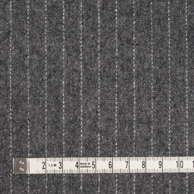 ウール&ポリエステル混×ストライプ(グレー)×ツイードストレッチ イメージ4