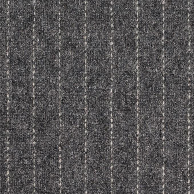 ウール&ポリエステル混×ストライプ(グレー)×ツイードストレッチ イメージ1