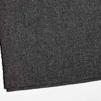 ウール&ナイロン混×ミックス(ブラック)×ツイードストレッチ_全2色 サムネイル2