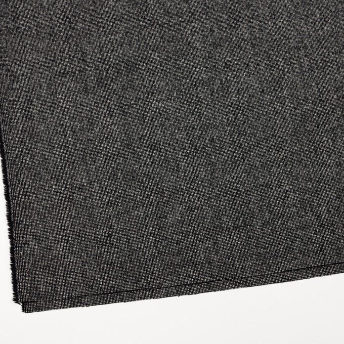 ウール&ナイロン混×ミックス(ブラック)×ツイードストレッチ_全2色 イメージ2
