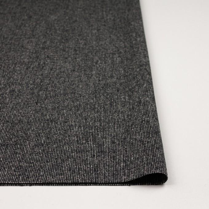 ウール&ナイロン混×ミックス(ブラック)×ツイードストレッチ_全2色 イメージ3