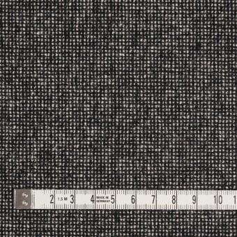 ウール&ナイロン混×ミックス(ブラック)×ツイードストレッチ_全2色 サムネイル4