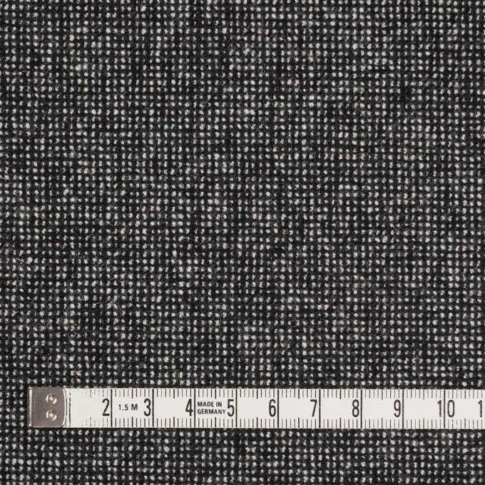 ウール&ナイロン混×ミックス(ブラック)×ツイードストレッチ_全2色 イメージ4