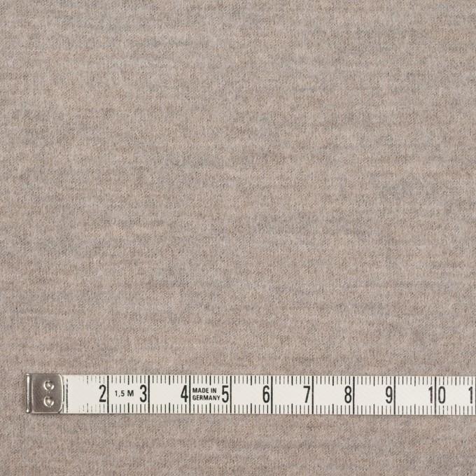 ウール×無地(オートミール)×圧縮天竺ニット イメージ4
