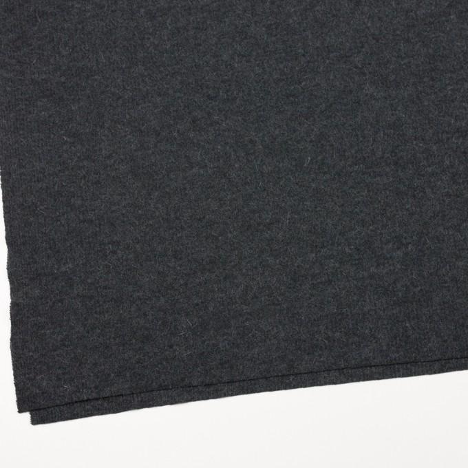 ポリエステル&ウール混×無地(チャコールグレー)×リブニット イメージ2