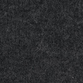 ポリエステル&ウール混×無地(チャコールグレー)×リブニット