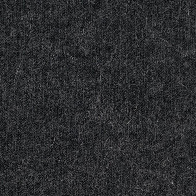 ポリエステル&ウール混×無地(チャコールグレー)×リブニット イメージ1