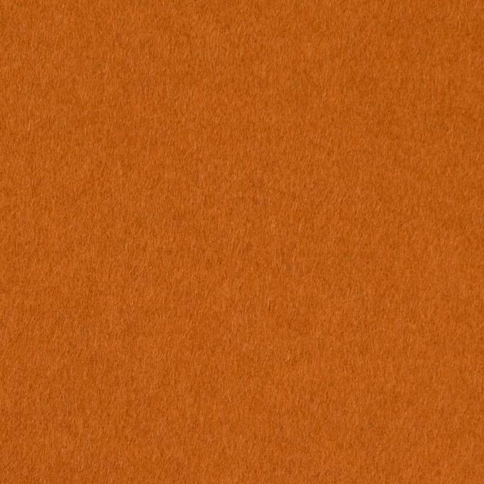 ウール&ナイロン混×無地(バレンシアオレンジ)×ビーバー_全3色 イメージ1