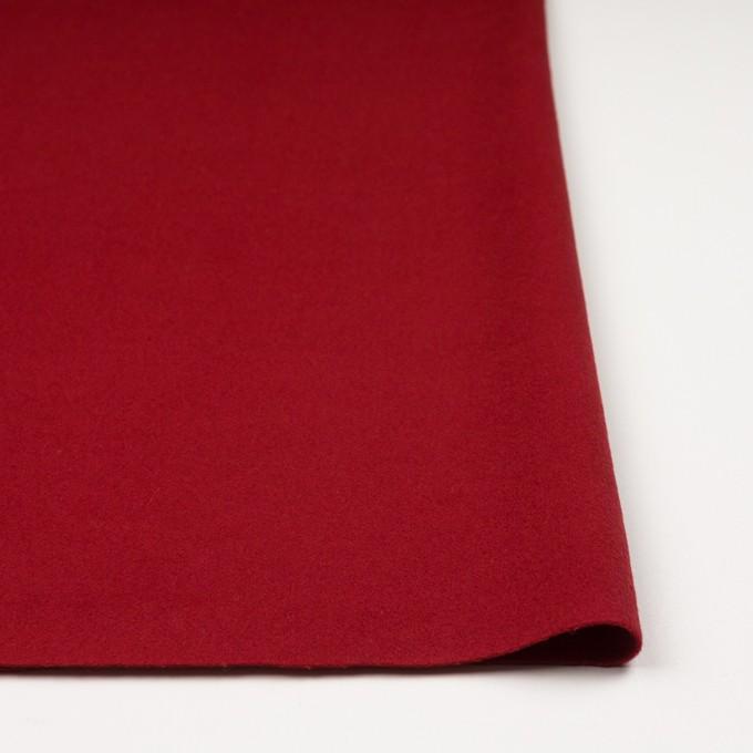 ウール&ナイロン混×無地(レッド)×ビーバー_全3色 イメージ3