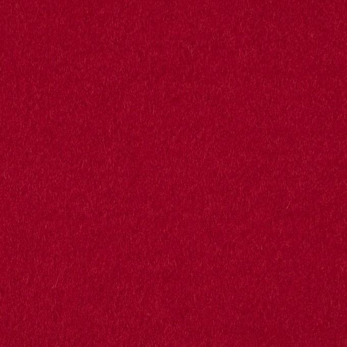 ウール&ナイロン混×無地(レッド)×ビーバー_全3色 イメージ1