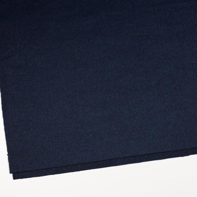 ウール&ナイロン混×無地(ミッドナイトブルー)×ビーバー イメージ2
