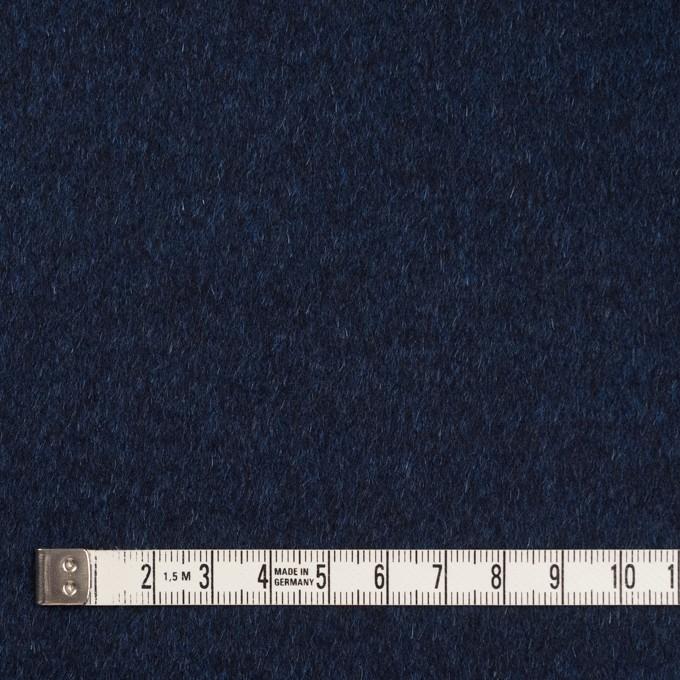 ウール&ナイロン混×無地(ミッドナイトブルー)×ビーバー イメージ4