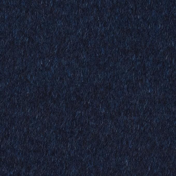 ウール&ナイロン混×無地(ミッドナイトブルー)×ビーバー イメージ1