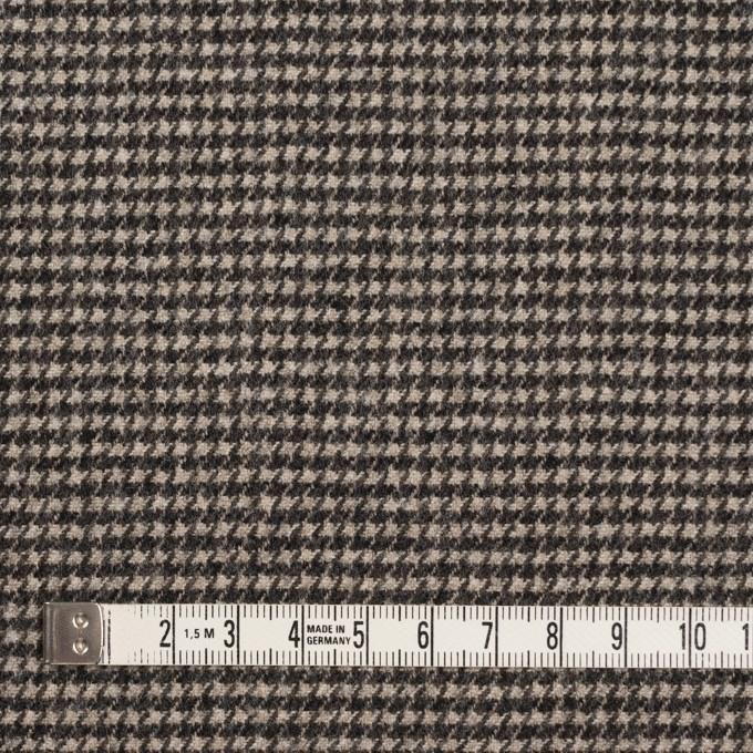 ウール&ナイロン×チェック(キナリ&ダークブラウン)×千鳥格子 イメージ4