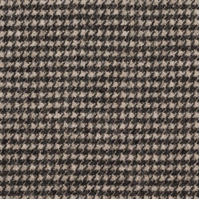 ウール&ナイロン×チェック(キナリ&ダークブラウン)×千鳥格子 イメージ1