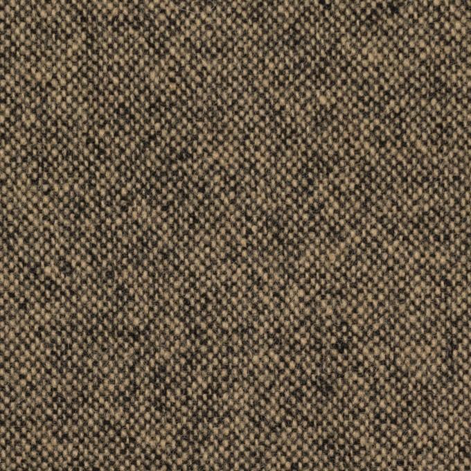 ウール&ナイロン混×無地(ベージュ&ブラック)×ツイード イメージ1