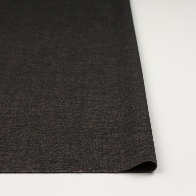 ポリエステル&レーヨン混×無地(アッシュブラウン)×かわり織 イメージ3